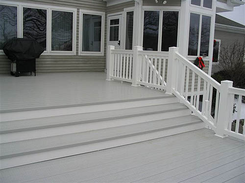 Pictures of decks deck photos photo gallery of decks for Vinyl decking material