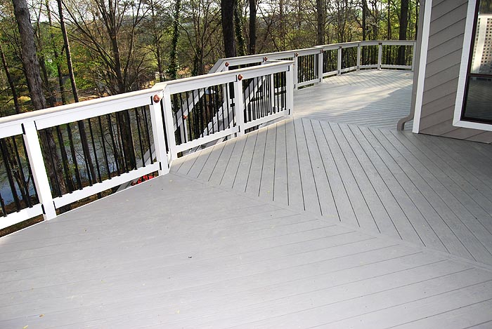 Trex Decking Gray : Composite deck slate gray decking