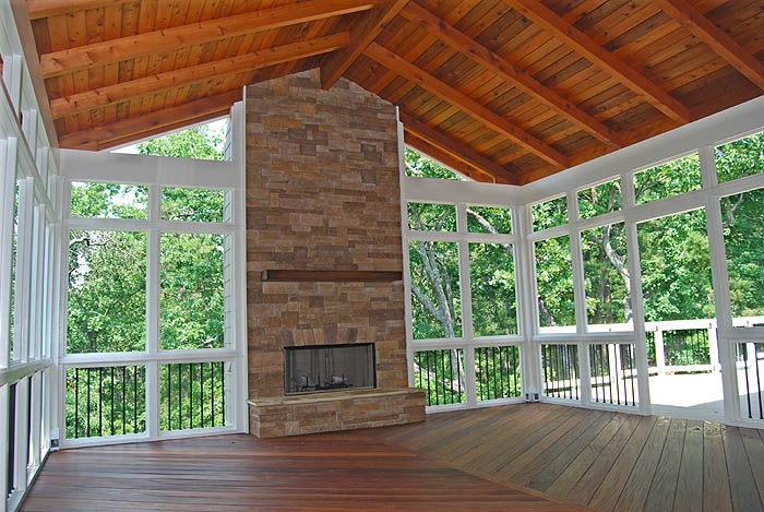 a groove adding and screen porch large tag screened to fireplace tongue your columbus decks with oh outdoor ceiling