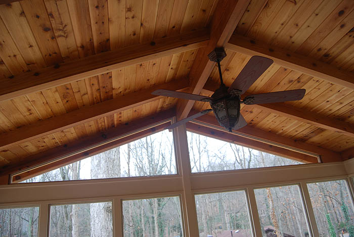 Screened In Porch With Gable Roof