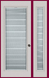 Internal Mini Blinds For Doors And Sidelights Door