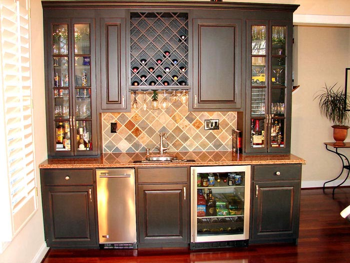 Custom bars built in bars basement bars custom cabinets Wet bar images