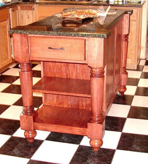 Furniture Style Island With Granite Top