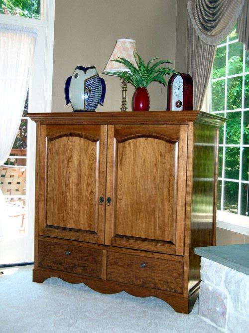 Custom Tv Cabinet Cherry